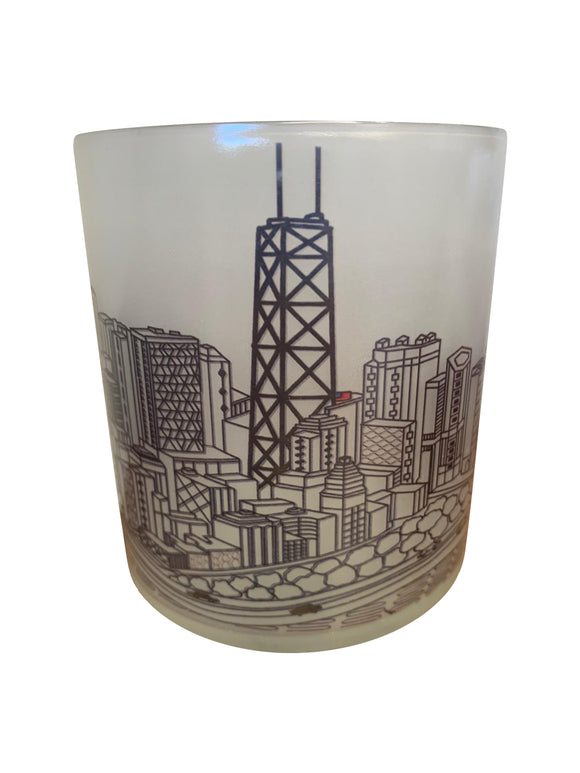 Chicago Skyline Glass Votive
