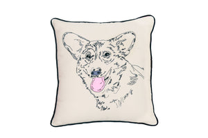 CORGI PORTRAIT DOG PILLOW