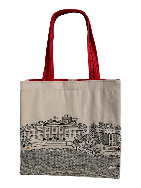Washington DC Tote Bag - Beyond Cushions