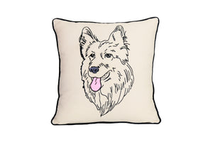 GERMAN SHEPHERD PORTRAIT DOG PILLOW