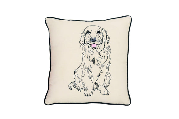 GOLDEN RETREIVER DOG PILLOW