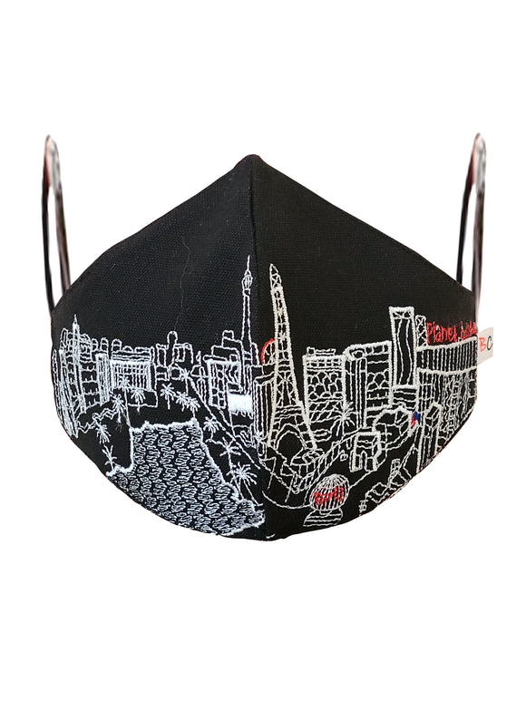 LAS VEGAS EMBROIDERED SKYLINE FACE MASK