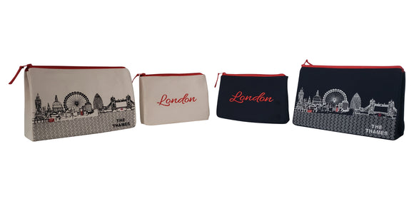 London Makeup Bag - Beyond Cushions