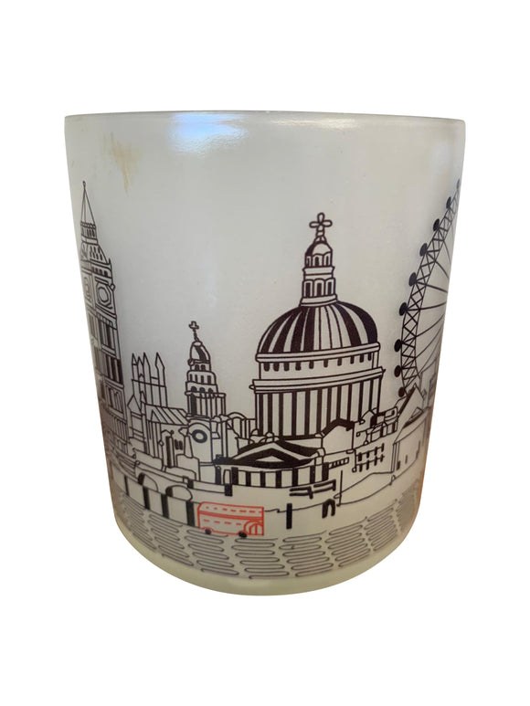 London Skyline Glass Votive