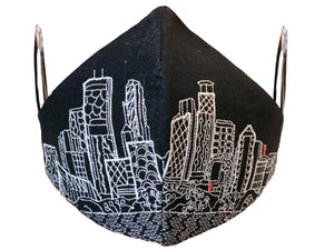 MINNEAPOLIS EMBROIDERED SKYLINE FACE MASK