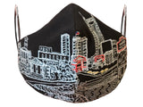 NASHVILLE EMBROIDERED SKYLINE FACE MASK