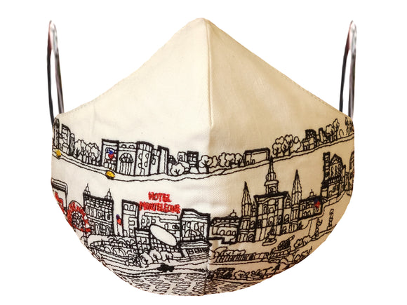 NEW ORLEANS EMBROIDERED SKYLINE FACE MASK