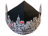 NEW YORK CITY EMBROIDERED SKYLINE FACE MASK