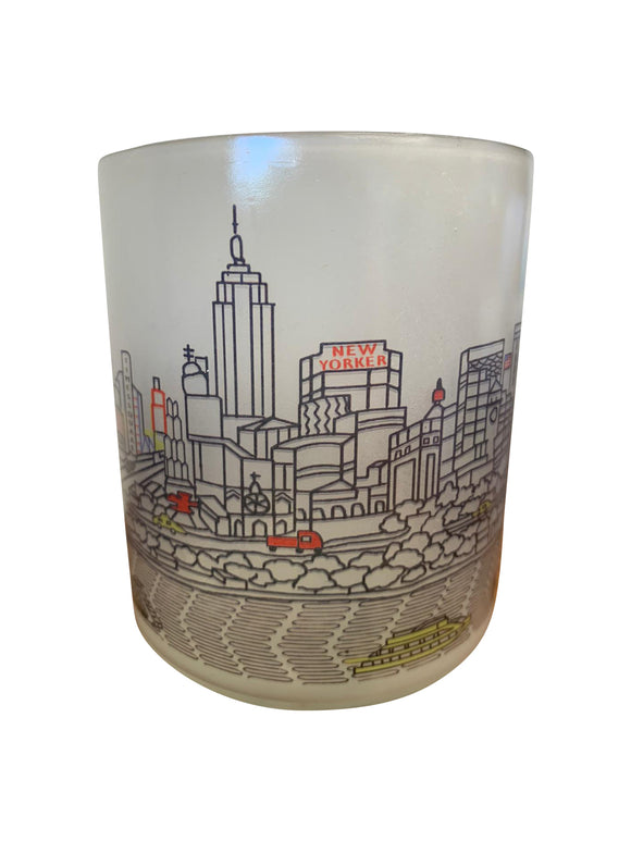 New York City Skyline Glass Votive