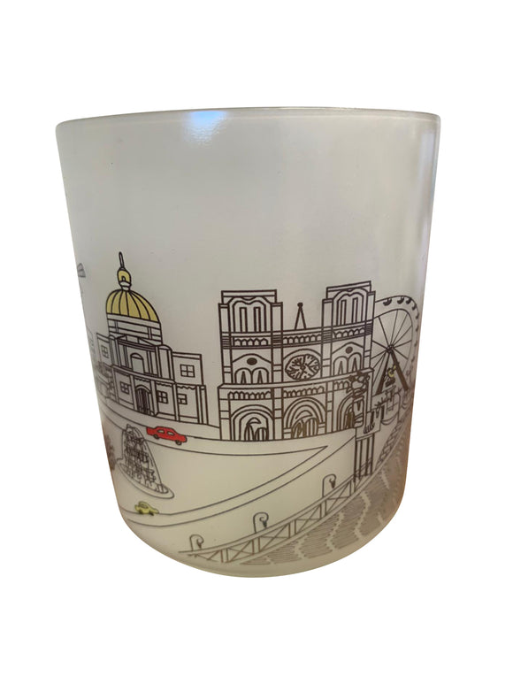 Paris Skyline Glass Votive