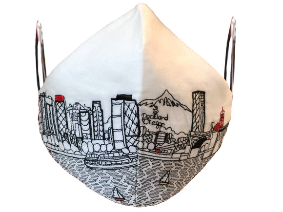 PORTLAND EMBROIDERED SKYLINE FACE MASK