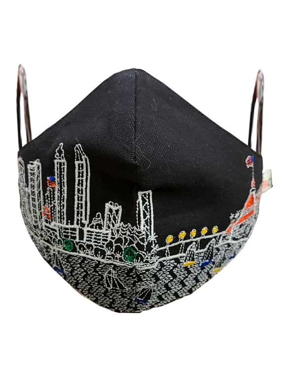 SAN DIEGO EMBROIDERED SKYLINE FACE MASK