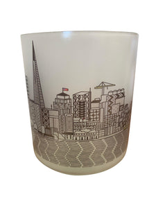 San Francisco Skyline Glass Votive