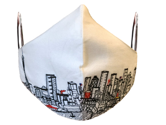 SEATTLE EMBROIDERED SKYLINE FACE MASK