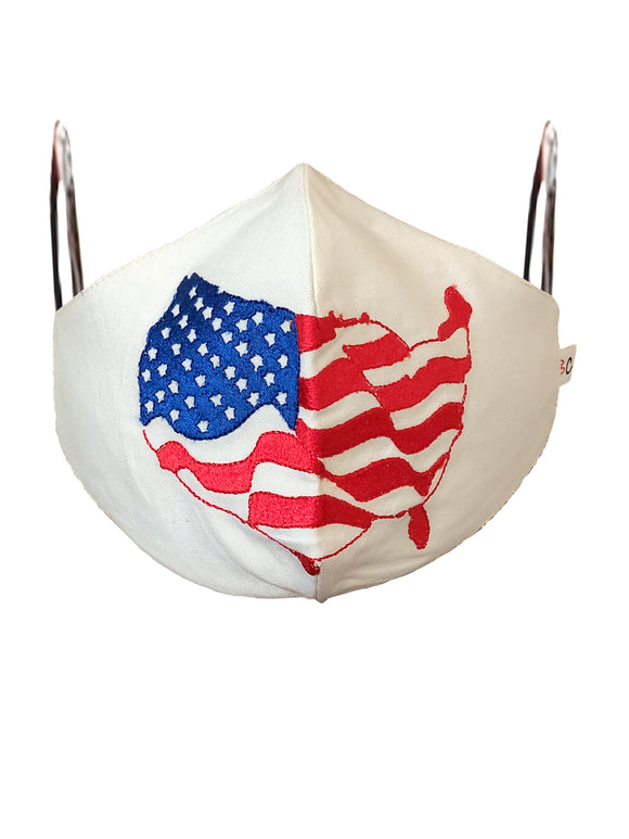 WE LUV USA EMBROIDERED FACE MASK