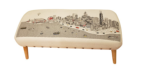 Chicago Ottoman - Beyond Cushions