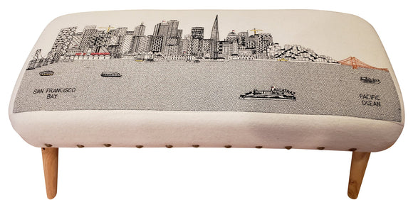 San Francisco Ottoman - Beyond Cushions