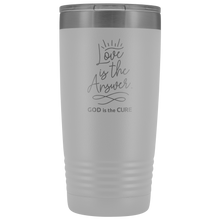 Load image into Gallery viewer, Love is the Answer 20oz Vacuum Tumbler