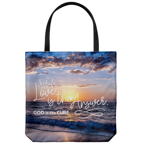 Love is the Answer Sunset Tote Bag