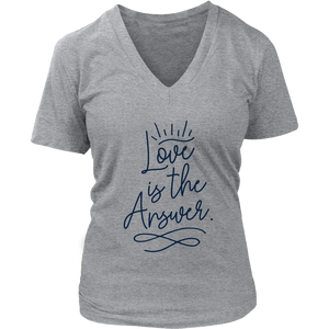 Love is the Answer Ladies V-Neck