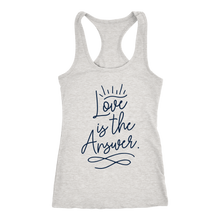 Load image into Gallery viewer, Love is the Answer Ladies Racerback Tank