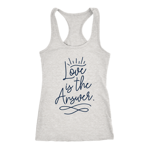 Love is the Answer Ladies Racerback Tank