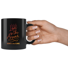 Load image into Gallery viewer, Love is the Answer Black Mug