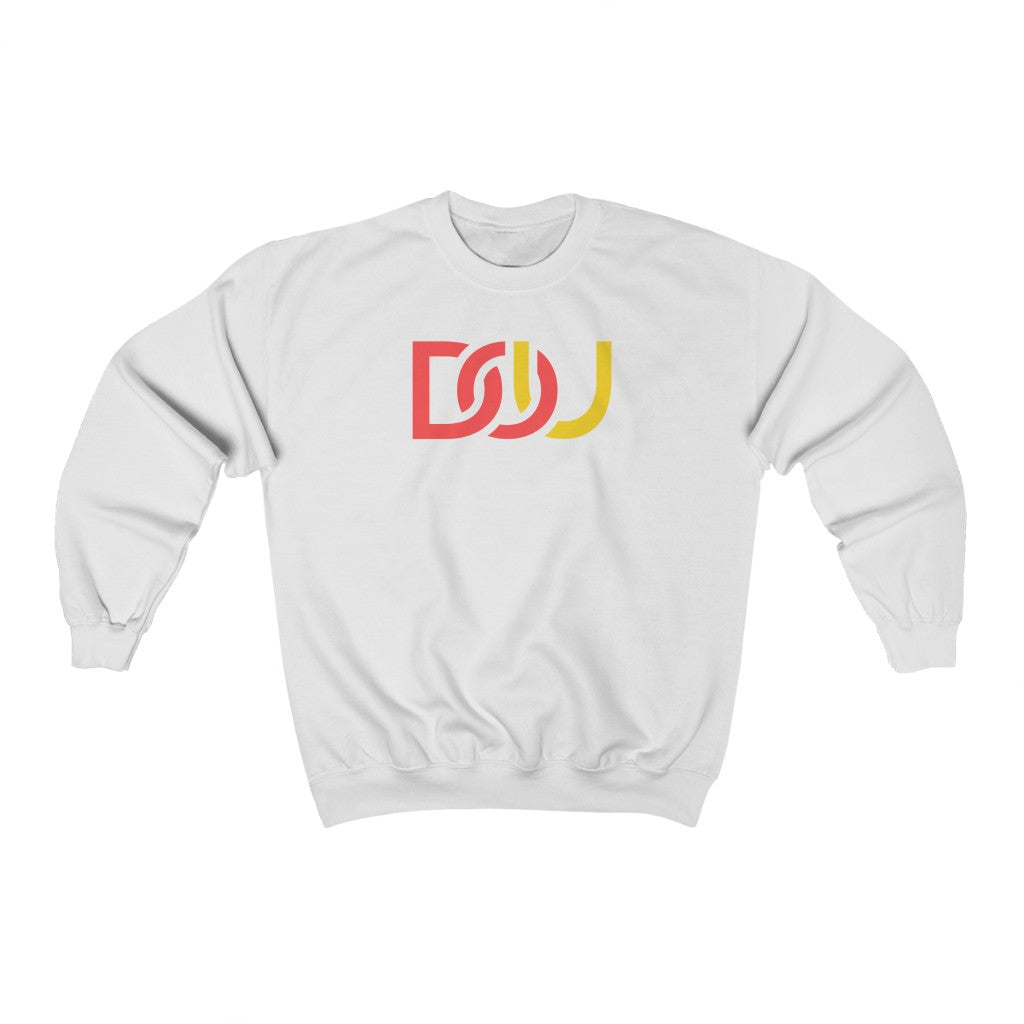 DOU Red & Yellow / White Sweatshirt