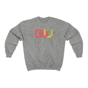 DOU Red & Yellow / Sport Grey Sweatshirt