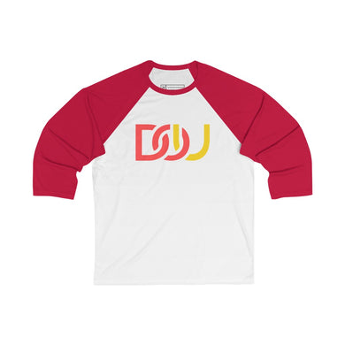 DOU Red & Yellow / White & Red Baseball Tee