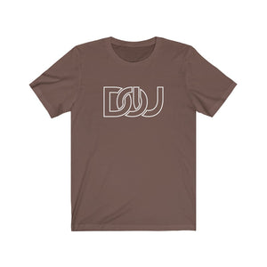DOU White Outline Classic / Brown Tee