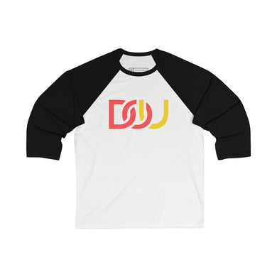 DOU Red & Yellow / White & Black Baseball Tee