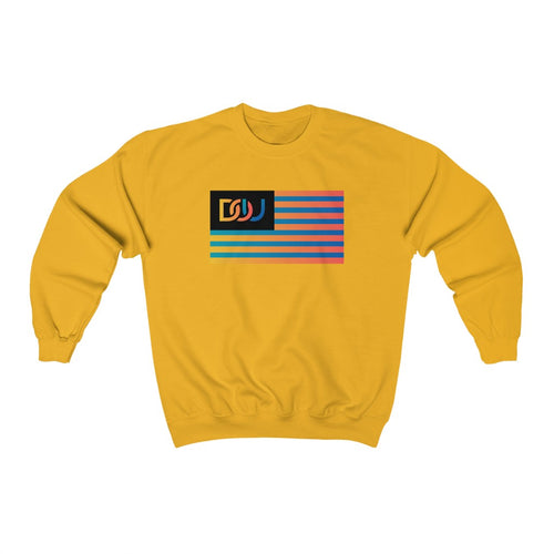 DOU Summer Nights Flag / Gold Sweatshirt
