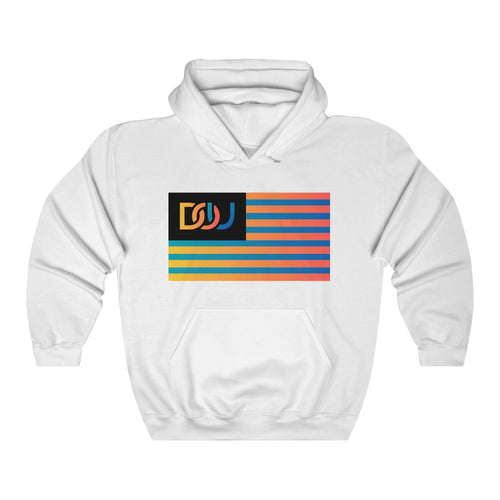 DOU Summer Nights Flag Series / White Hoody