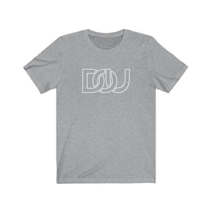 DOU White Outline Classic / Athletic Heather Grey Tee