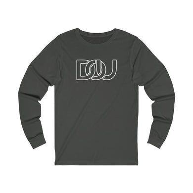 DOU White Outline Classic / Dark Grey Long Sleeve