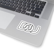 Load image into Gallery viewer, D.O.U. Black Letter Outline Stickers