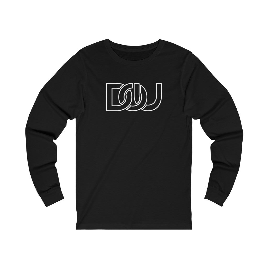 DOU White Outline Classic / Black Long Sleeve