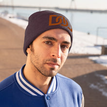 Load image into Gallery viewer, DOU Burnt Orange Text / Maroon Embroidered Knit Beanie