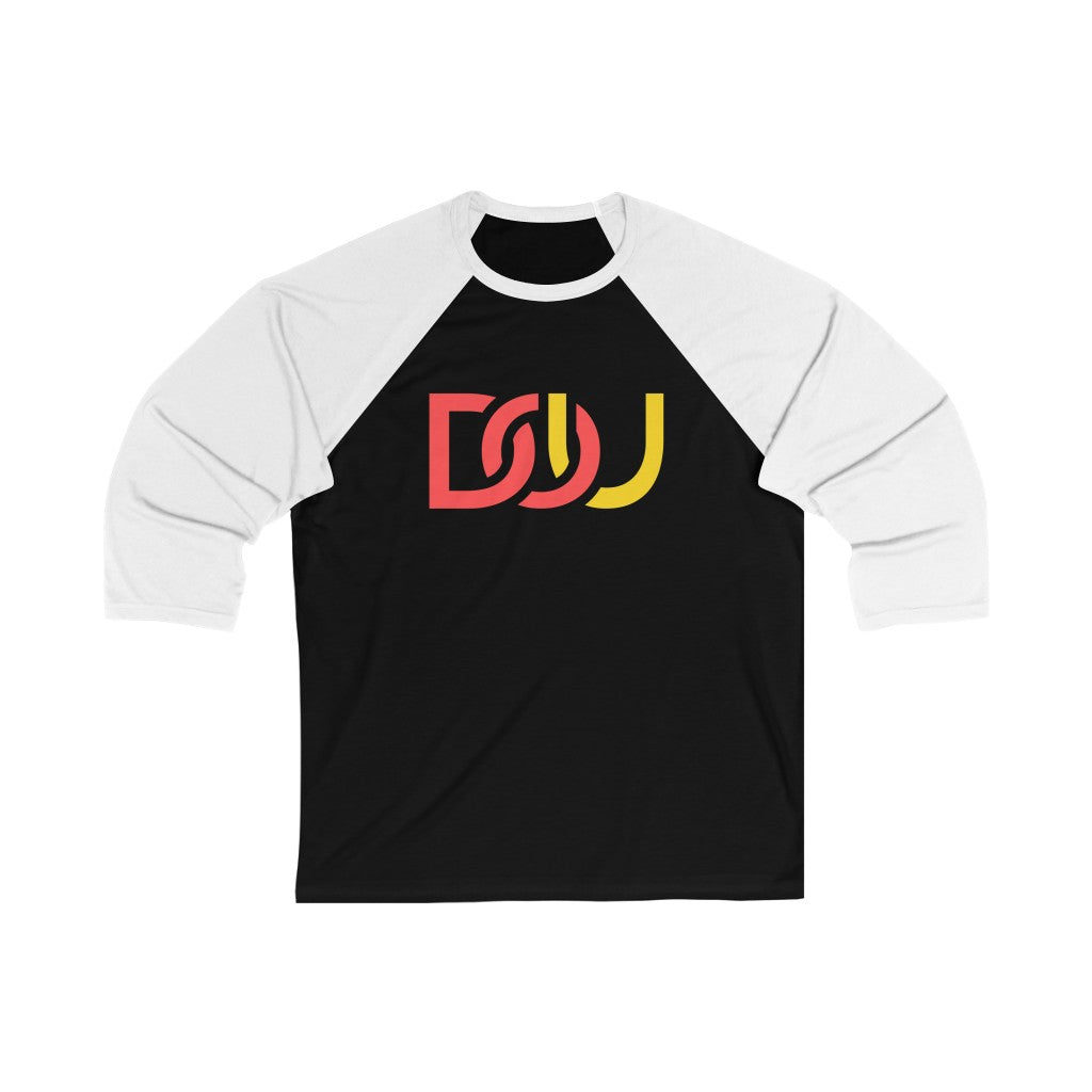 DOU Red & Yellow / Black & White Baseball Tee