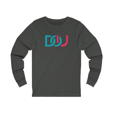 DOU Blue & Pink / Dark Grey Long Sleeve