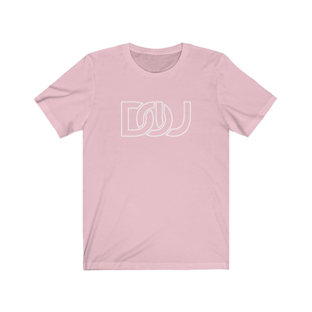 DOU White Outline Classic / Light Pink Tee