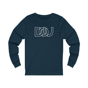 DOU White Outline Classic / Navy Long Sleeve