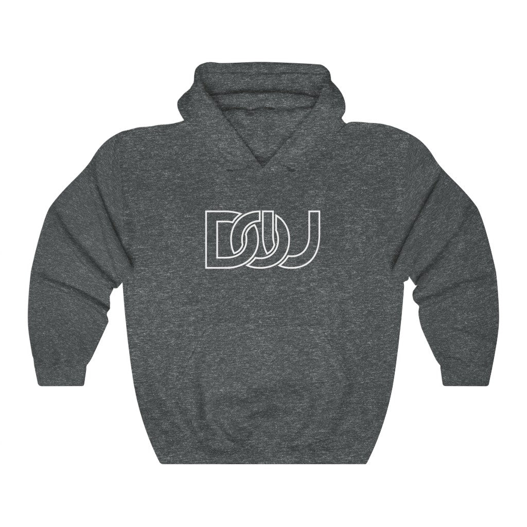DOU White Outline Classic / Dark Heather Green Hoody