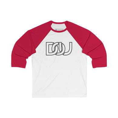 DOU Classic Black Letter / White & Red Baseball Tee