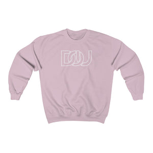 DOU White Outline Classic / Light Pink Sweatshirt