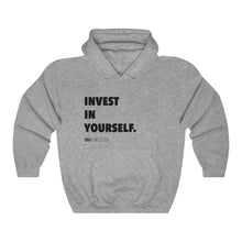 "Load image into Gallery viewer, DOU ""Invest in Yourself"" / Sport Grey Hoody"