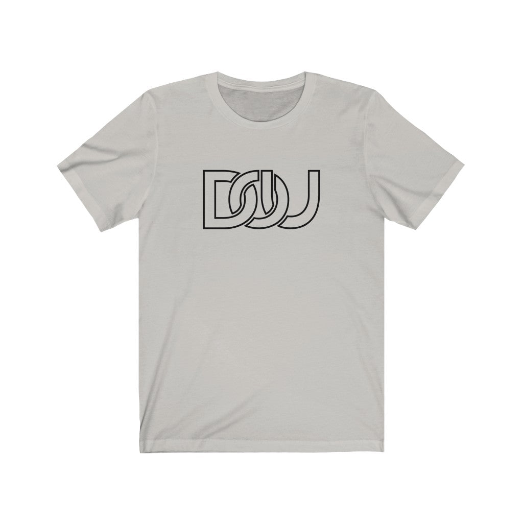 DOU Classic Black Letter / Silver Tee