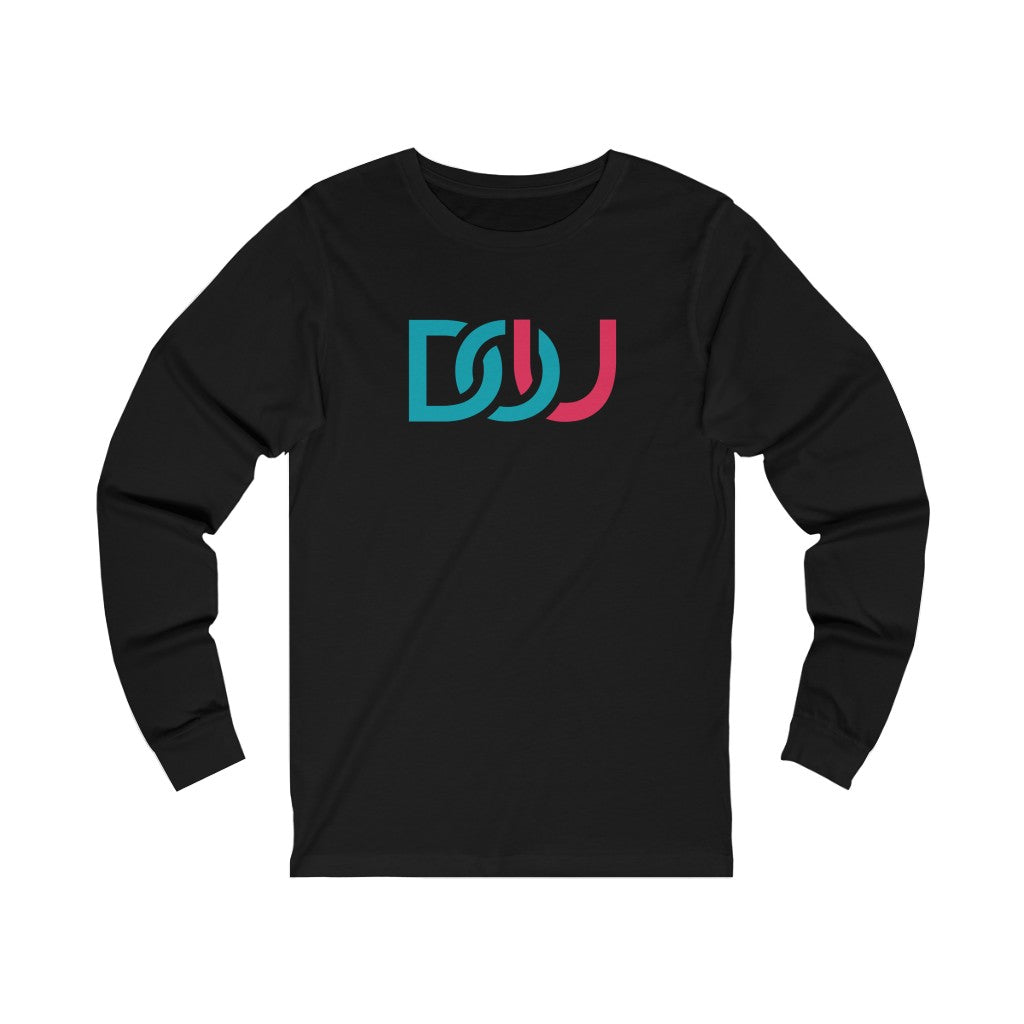 DOU Blue & Pink / Black Long Sleeve