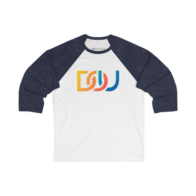 DOU Summer Nights / White & Navy Baseball Tee